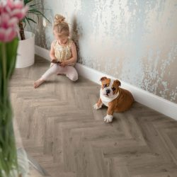 Tarkett Rustic Oak Dark Grey Parquet