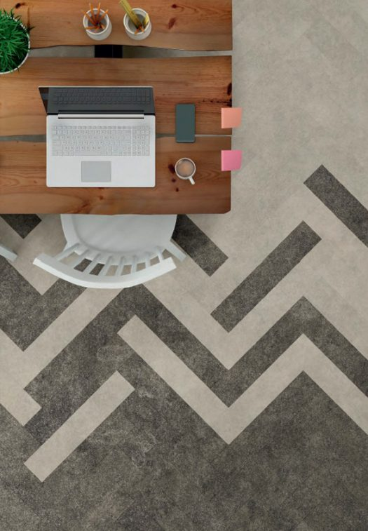 Tarkett Inspiration Grey Tile Parquet